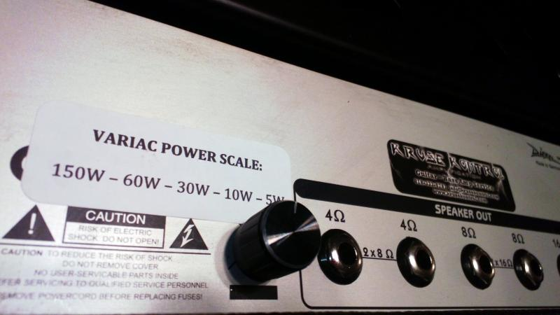 Diezel Herbert Variac Power Scale Mod