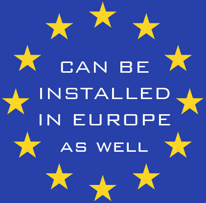 Can be installed in Europe
