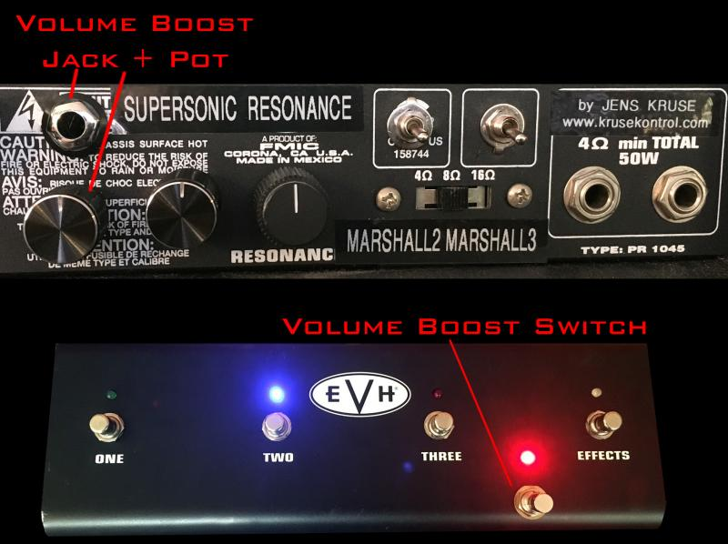 EVH III 50W vol boost with Foot switch Jens Kruse Kontrol Mods