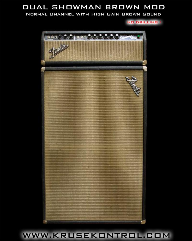 Fender Dual Showman Brown Sound Mod Jens Kruse Kontrol Amplification