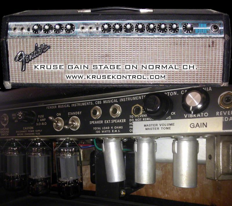 FENDER TWIN REVERB: Normal Channel with Kruse Gain Stage