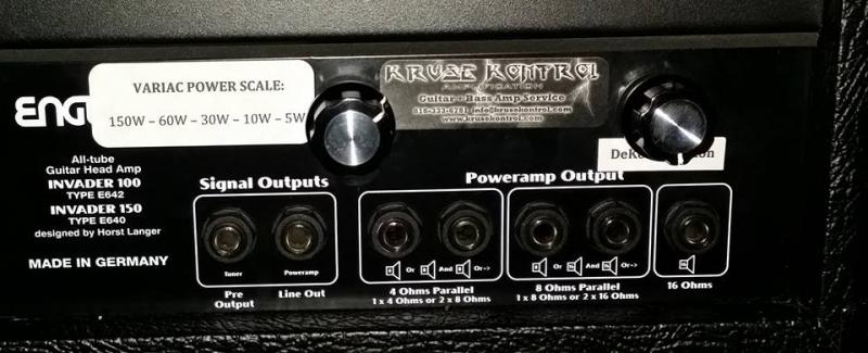 Engl Invader 150 Variac Power Scale Mod