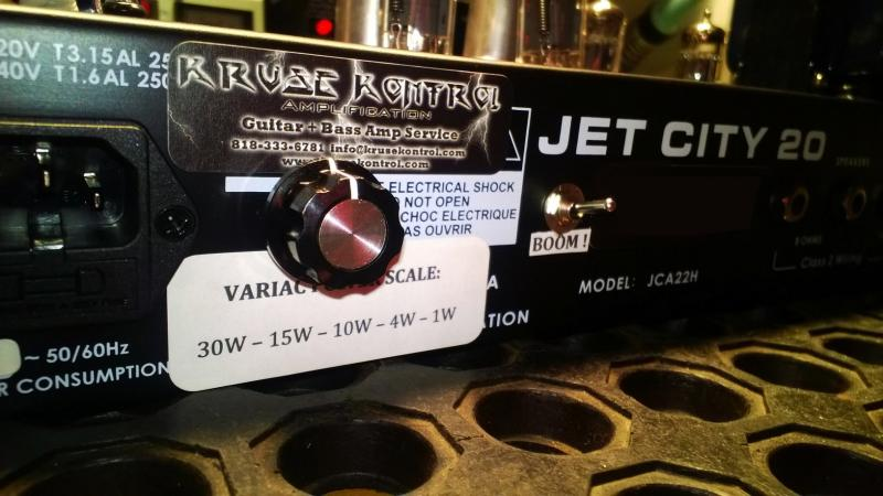 Jet City 20 Variac Power Scale Mod
