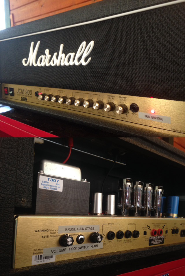 Marshall JCM900 with Kruse Gain Stage