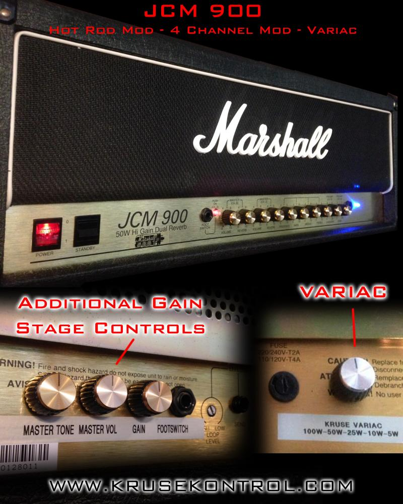 Marshall JCM900 Hot Rod Mod Gain Stage Variac Kruse Kontrol