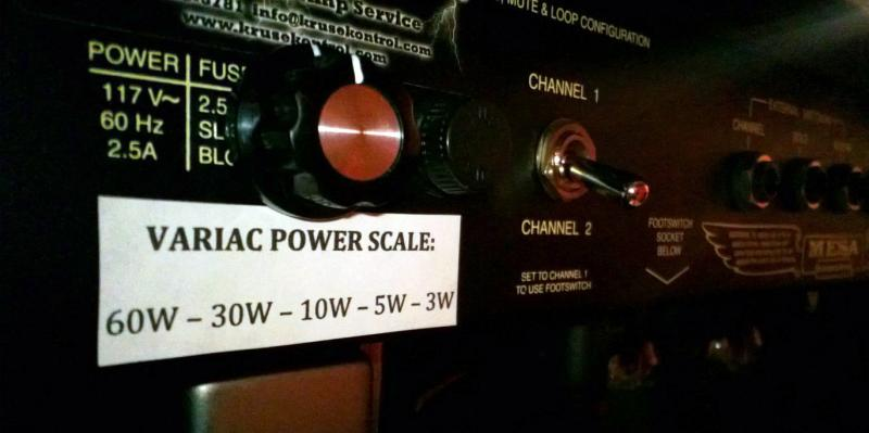 Mesa RectoVerb Variac Power Scale Mod